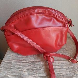 Morrison Moskowitz vintage 100% leather red